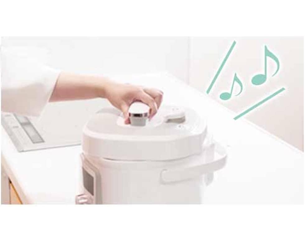 コイズミの電気圧力鍋なら 安心・安全設計!